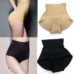 Wholesale Lighting Lifter - Womens Shapewear Seamfree High Waist Slimming Control Briefs Butt Bum Lifter Padded Panties