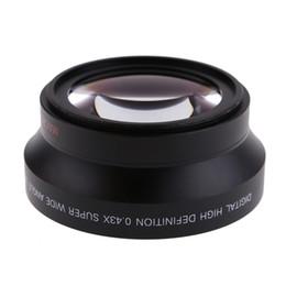 Wholesale Rebel T3i Slr - 67mm Digital High Definition 0.43*SuPer Wide Angle Lens With Macro Japan Optics for Canon Rebel T5i T4i T3i 18-135mm 17-85mm D2443