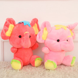 Wholesale Cute Baby Dolls For Sale - Wholesale- 18CM 7'' Cute Elephant with big ears plush toy Doll Cartoon Animals Baby Toy for Children Gifts Wedding Gifts toys Hot sales
