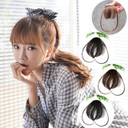 Wholesale Wigs Volume - Hair bang wig mini air bangs  fringe piece of hair Korean mini bangs thin small volumes buckle