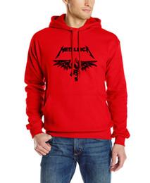 Wholesale Male Heavy Collar - Wholesale-2016 new long sleeved cotton sweatshirt male brand hooded funny clothing Heavy Metal Metallica classics Rock Man sweatshirt Mens