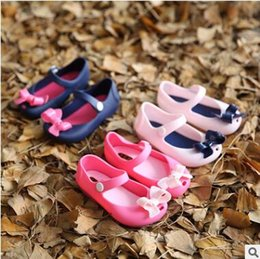 Wholesale Kids Girls Boots - Mini Sed Baby Sandals Girls Fish Mouth Jelly Sandals Kids Summer Shoes Toddler First Walker Shoes Bow Boots Cartoon Princess Baby Shoes 314