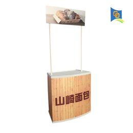 Suporte luxuoso da bandeira da exposição da tabela do contador da promoção do ABS de Fornecedores de pop up stand displays