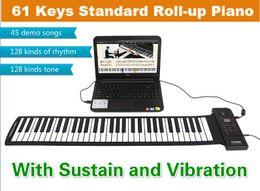 Wholesale Digital Keyboard Piano - Wholesale-Hot Hand Roll Piano 61 key Synthesizer MIDI Keyboard Digital piano Musical Instruments Children's Educational Toy Free shipping