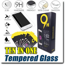 Wholesale Cover Guards - For iPhone7 7 plus 6s 6 plus 5se Samsung S7 S6 S5 Tempered glass Screen protector HD LCD Screen Protector Film Guard Cover Shield OM-I3