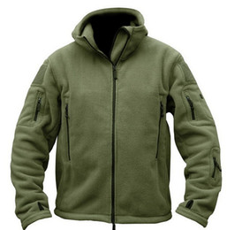 Wholesale Military Outdoor Clothing - Fall-Military Man Fleece tad Tactical Softshell Jacket Outdoor Polartec Thermal Sport Polar Hooded Coat Outerwear Army Clothes