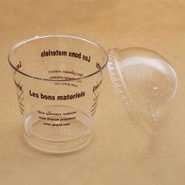 2019 copos de sobremesa 180 ml de Plástico Copo De Sorvete Claro Mousse Copo Copo De Serragem com Tampa Da Cúpula Descartáveis Bolo Sobremesa Copos Suprimentos do Partido Da Bacia ZA3259 copos de sobremesa barato