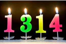 Digital 0-9 Candle Home Garden Festive Party Supplies Festive Sale Wholesale Check Out Cumpleaños Vela Color Vela desde fabricantes