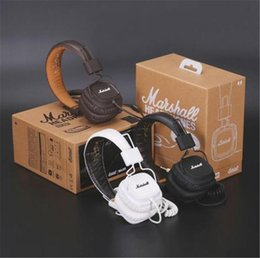 Wholesale bass professional - Marshall Headphones Marshall Major Headphones With Mic Deep Bass DJ Hi-Fi Headphone Stereo Headsets Professional DJ Monitor Headphone