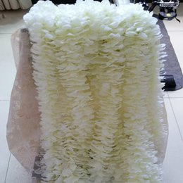 Wholesale Orchids Artificial Flower - Unique Design Wedding Backdrop Decoration Orchid Flower Silk Wisteria Vine White Artificial Wreaths Shooting Photo Props Free Shipping