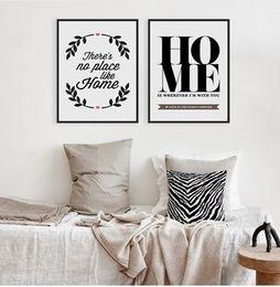 2019 grande lona arte preto branco Preto Branco Citação Motivacional Grande Cartaz Impressão Minimalista Imagem Pintura Da Lona Sem Moldura Nordic Home Decor Wall Art Presente desconto grande lona arte preto branco
