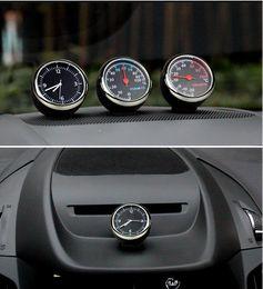 Wholesale Thermometer Hygrometer Car - 3 pcs  set Car Mechanics Quartz Clock & Thermometer & Hygrometer Noctilucent Watch Digital Pointer for Auto Decoration Supplies Car