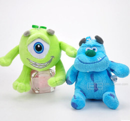Wholesale Mike Plush - 20151139 Free shipping 20cm Monsters Inc Monsters University 1pcst Monster Mike Wazowski or James P. Sullivan plush toy for kids gift