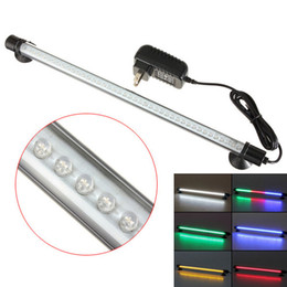 Wholesale green led submersible lights - 42 LED super-bright Various Optional Color 38cm Aquarium Fish Tank Waterproof Submersible Stick Strip Light DEL_00X
