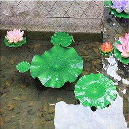 Wholesale pond tanks - Green Artificial Lotus Flower Leaf For pool Home Pond Fish Tank Lotus Leaves Leaf Decor Party garden Decorations 10CM