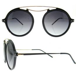 Wholesale China Eyeglasses Frames - new italy design china bulk buy tr90 frame full-rim polarizing round luxury fashionable women shades sunglasses