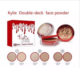 Wholesale Free Decks - Free shipping hot selling NEW makeup Kylie BB matte smooth Powder Double-deck 3 color 1PCS