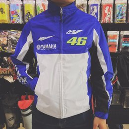 Wholesale Motors Jacket - Men VR46 Yamaha Windbreaker Waterproof Racing Jacket motor coat Sweatshirts Casual Driving Motorcycle YAMAHA Hoodies Knight MotoGP Team