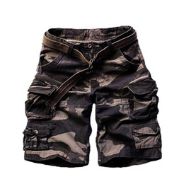 Wholesale Pirates Pc - Wholesale- 2016 Summer Big Yards Men Cotton Shorts Camouflage Many Pockets Design Loose The Pirates Trousers Free Shipping 1 PCS