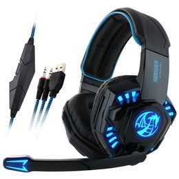 Wholesale Earphones Gaming Headset - Noswer I8 Led Stereo Headset Computer Headphones earphones with microphone for Gaming PS4 PC Laptop Gamer Mobile Phones Gamer