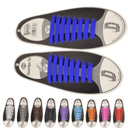 Wholesale Elastic Hair Tie White - 500PAIRS LOT Unisex Athletic Running No Tie Shoelaces Elastic Silicone Shoe Lace All Sneakers Fit Strap No tie 1PAIR=16PCS