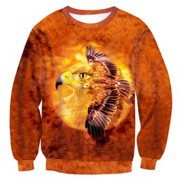 Wholesale S Owl - NEW Fashion hot style sweatshirts men or women's print Brown owl Wings fly enchantress pullover hoodies free shipping