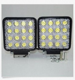 Wholesale Lights For 4x4 Cars - 2PCS 4Inch 48W LED Work Light for Boat Car Tractor Truck 4x4 SUV ATV Flood 12 24V
