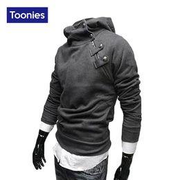 Wholesale Tracksuit Mens Colors - Wholesale-Sweatshirt Men Hoodies Brand 2016 New Fashion Hooded Tracksuit Men Long Sleeved Sudaderas Hombre 5 Colors Slim Mens Hoodies