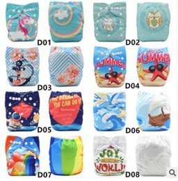 Wholesale Diaper Cartoon New - Adjustable Size Baby Diaper Washable Baby Cloth Diaper Cover Waterproof Cartoon Owl Baby Diapers Reusable Cloth Nappy Suit 0-2years 3-13kg