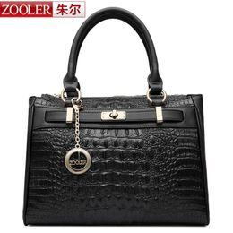 Wholesale Zooler Bags - Wholesale-ZOOLER women leather handbags Bag ladies Famous Brand 2016 Alligator grain handbag top quality Classic Alligator pattern bag