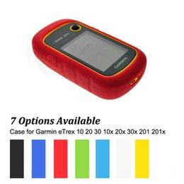 Wholesale Navigator Case - Wholesale- Outdoor Hiking Handheld GPS Navigator Accessories Silicon Rubber Case Skin for Garmin eTrex 10 20 30 10x 20x 30x 201 201x