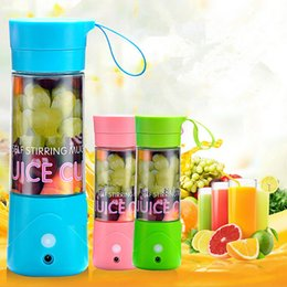 Wholesale Wholesale Smoothie Cups - Blender Juicer Electric Fruit Juicer Machine Mini Portable USB Rechargeable Smoothie Maker Blender Cup 3 Colors