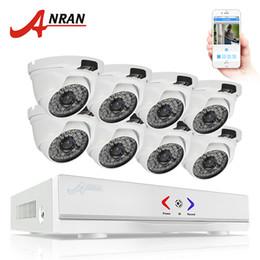 Wholesale Home Security Dome Cameras - ANRAN 8CH CCTV System 1080N AHD DVR 720P 1800TVL IR Weatherproof Outdoor Camera Home Security Surveillance System Email Alert