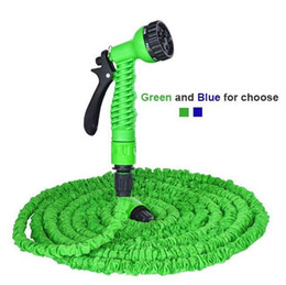 Wholesale Green Rubber Hose - DHL 50ft Latex Garden Expandable Hose with Multi-function Sprayer-green, blue Lightweight Water Hose Soaker Pipe