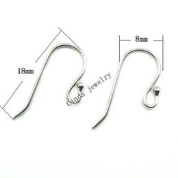 Wholesale Earring Hook Sterling Silver - 10pairs lot 925 Sterling Silver Earring Hooks Finding For DIY Craft Fashion Jewelry Gift Free Shipping 18mm W045