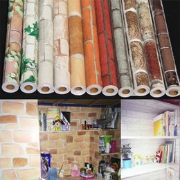 Wholesale Cabinets Entertainment - Wholesale-DIY Decorative Self adhesive Wallpaper Furniture Renovation Stickers Kitchen Cabinet Waterproof living room covering Decor