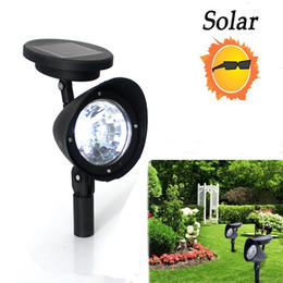Wholesale Solar Landscape Lamps 6v - 3-LED Solar Yard Garden Lamp Spot Light White For Outdoor Lawn Landscape Path