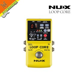 Wholesale Nux Core Pedals - Wholesale- NUX Loop Core Guitar Effects Pedal Looper Pedals Looping Station 6 Hours Recording Time Built-in Drum Patterns Free shipping