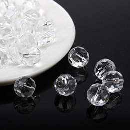 Wholesale 8mm Glass Beads Wholesale - 8mm 10mm Globo Terrestre Glass Beads Faceted Rondelle Crystal Chandelier Parts Bead For Jewelry Making Cuentas Y Abalorios AGB7