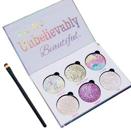 Wholesale Beauty Control - Free Shipping by ePacket Love Luxe Beauty Fantasy Palette Makeup You Are Unbelievably Beautiful highlighters Eyeshadow 6 Colors Free Brush