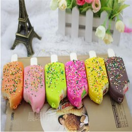 Wholesale Wholesale Sprinkles - Squishy Bread Chocolate Sprinkles Popsicle Slow Rising Phone Straps Soft Scented Charms