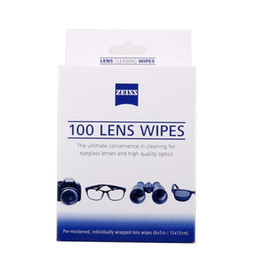 Wholesale Mobile Phone Wipe - Wholesale- Zeiss pre-moistened wet wipes for mobile phone camera screen cleaner for cleaning screen of iphone 6 6s 7plu 100 counts