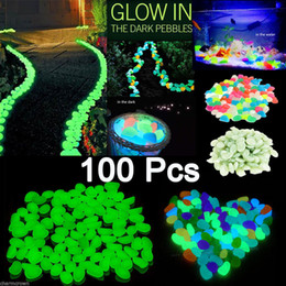 Wholesale Wholesales Fish Tanks - 100x Glow In The Dark Pebbles Stone Home Garden Walkway Aquarium Fish Tank Decor Newest Decorative Gravel For Your Fantastic Garden or Yard