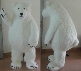 Wholesale Adult Sea Costume - brand new big fat furry polar bear mascot costume for adult sea bear mascot suit for sell free shipping