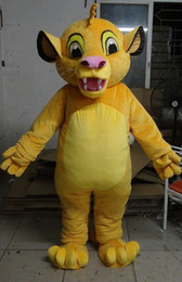 Wholesale Lion Mascot Costumes Adults - Lion King Simba Mascot Costume custom cartoon character cosply adult size carnival costume fancy dress party kits 800