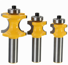 Wholesale Hand Crimp Machine - 1PCS 1 2 inch Shank Rail Stile Router Bit Set Shaker Door Wood Chisel Cutter Drill Bit Hand Tools