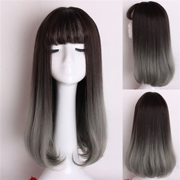 Мода Женщин Парики Воздуха Груша Головы Длинные Вьющиеся Fasle Парик Волос Длинные Волосы Наборы от
