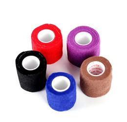 Wholesale Adhesive Elastic Bandage - Disposable Self-adhesive Elastic Bandage for Handle Grip Tube Tattoo Accessories Random Color Free Shipping