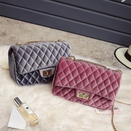 Wholesale Velvet Clutch Wholesale - Wholesale- 2016 Fashion Luxury Handbags Women Bags Designer Velvet Shoulder Bag Crossbody Clutches Bags Famous Brand Female Casual Tote