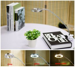 Wholesale Table For Laptop Wholesale - LED Desk Lamp 5V USB Rechargable Flexible Eye-Protection Adjustable LED Light Clip-on Clamp Beside Bed Table Desk Lamp For Laptop
